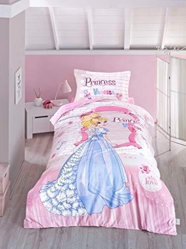 Princesse Vanessa 100% coton Housse de couette, lit simple, 3 pièces