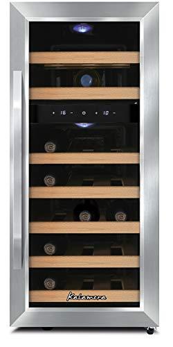 LED 2 Temperaturzonen 5-18°C Kalamera KRC-73DZF Weinkühlschrank 73 Flaschen