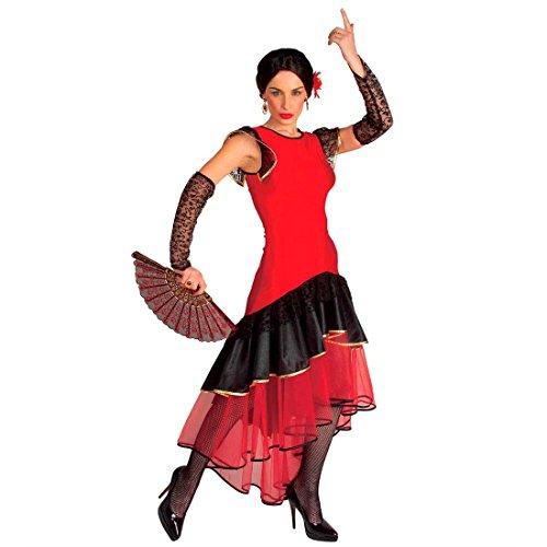 Flamenco Kostüm Spanische Tänzerin Damenkostüm L (42/44) Spanierin Kleid Senorita Fasching Spanien Mexikanerin Faschingskostüm Mexiko Karnevalskostüm Damen Sexy Mottoparty Verkleidung Karneval Damen