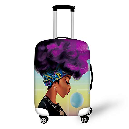 BIGCARJOB Trendy Luggage Cover Elastic Spandex Dust-proof Case African woman Printed Fit 26-28inch Suitcase