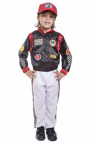 Dress up America Disfraz de Conductor de Coche de Carrera de niños