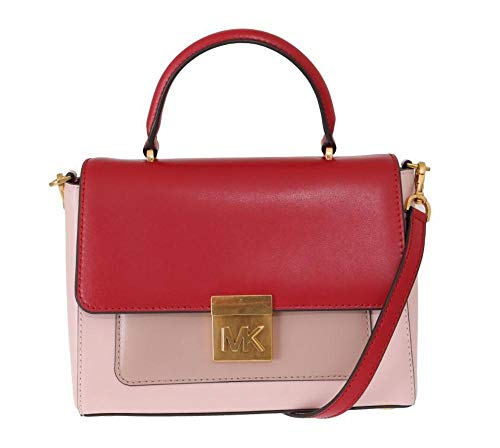 Michael Kors Rood Roze Mindy Satchel Crossbody Tas