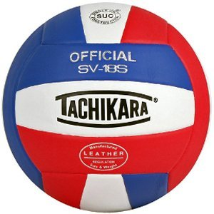 Tachikara SV18S Composite Leather Volleyball Red White and Blue by Tachikara