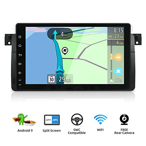 Android 9.0 Estereo de Coche navegación GPS Compatible Para BMW E46 3er M3 320 325 Rover75 MG ZT |Canbus Cámara trasera |1 DIN 9 pulgada 2GB/32GB |SD |USB |DAB+ Soporte |4G |WLAN |Bluetooth|MirrorLink