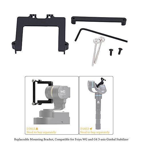 Andoer 46mm Fotocamera repleaceable supporto di montaggio néc Feiyu WG e stabilizzatore 3assi cardanico G4