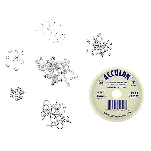 Collier et Bracelet acculon fil perles pour fabrication de bijoux
