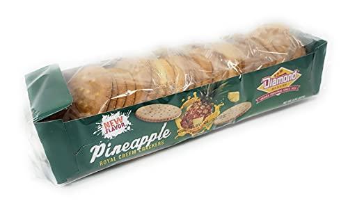 Diamond Bakery Hawaiian Royal Creem Crackers, Pineapple Flavor 8 oz Tray