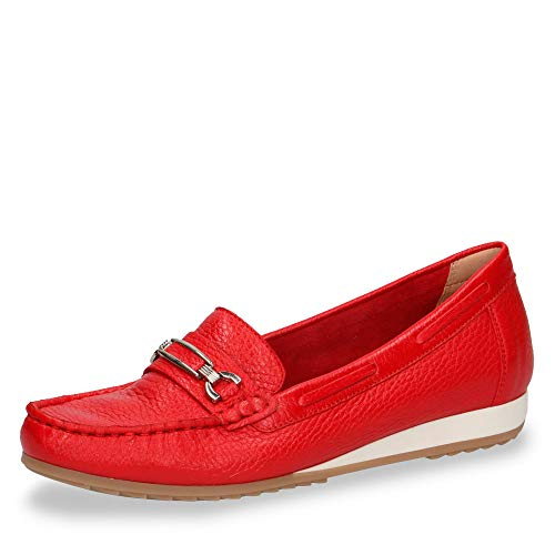 CAPRICE Damen Slipper Roter Mokassin mit Blue Oxygen 24212-552 rot 604205, Rot, 40 EU