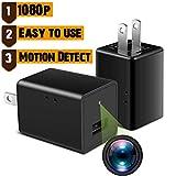 WAYMOON Mini 1080P Spy Hidden Camera Portable Home Security Cameras Charger Nanny Cam Small Indoor...