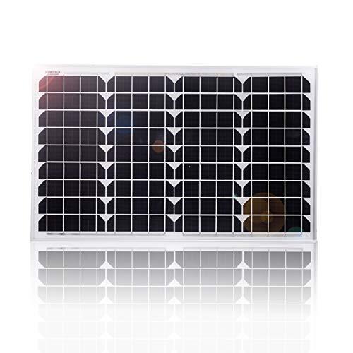 Betop-camp 40W Solarmodul Mono 12V, Solarpanel für Wohnmobil, Wohnwagen, Boot mit 0.9M MC4 Line