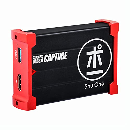 ShuOne Capture Card, USB 3.0 Game Capture Card Video Capture Karte 1080P 60FPS mit HDMI Loopout, Live Streaming für PS4 Switch Xbox auf OBS Twitch YouTube,Support Windows, Linux, Os X System