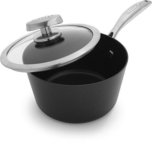 Scanpan PRO IQ Nonstick Covered Saucepan, 1.6 quart, Black