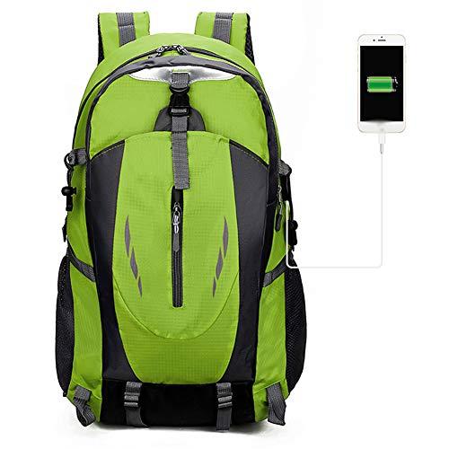 HWZZ 50L USB Charging Reiserucksäcke Wasserdichter Sports Rucksack Wanderrucksack Bergsteigen Camping Umhängetaschen,B