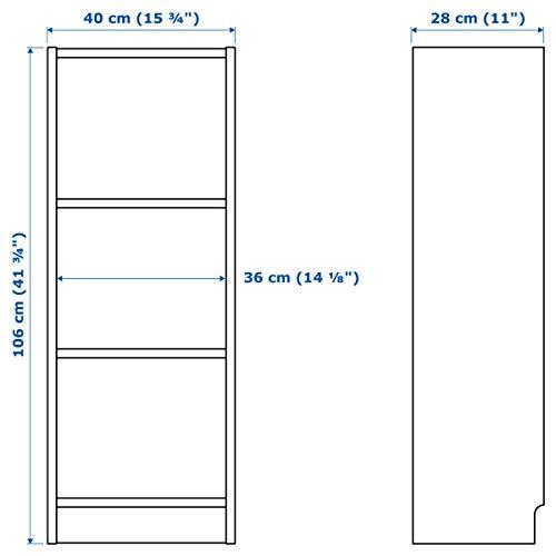 IKEA BILLY - Estantería (40 x 28 x 106 cm), color blanco