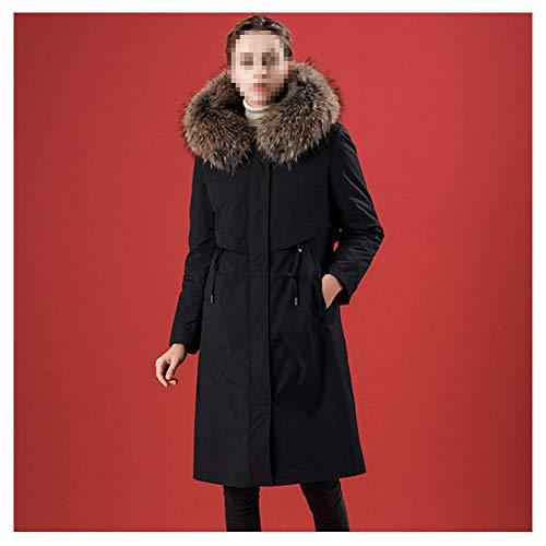 LJYY warme winterjas met lederen kraag en voeten overwinnen van kunstbont, gewatteerd, comfortabel