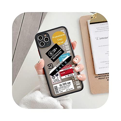 Estuche de teléfono a prueba de golpes con retrato divertido para iPhone 7 8 Plus 11 Pro 12 Pro Max XS Max XR X 12 Mini SE 2020 Mate Cartoon Logo Coque-T2 2909-para iPhone XS Max