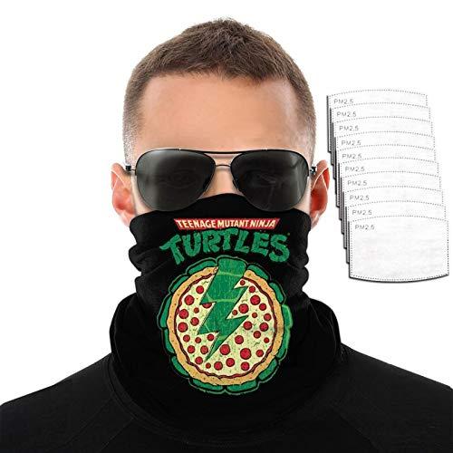 VOROY Mu-Tant Nin-Ja Turt-Les - Toalla facial con 6 filtros para escalada de montaña, protección facial, máscaras protectoras negras para la cara para jóvenes de 9.8 x 19.7 cm