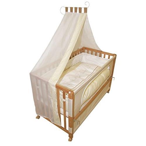 roba Roombed, Babybett 60x120 cm 'Waldtiere', Beistellbett zum Elternbett mit kompletter Ausstattung