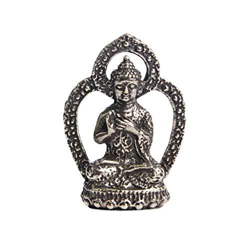 LILOVE Old Bronze Three Holy Buddha Keychain Pendant Home Bodhisattva Ornament Pocket Buddha