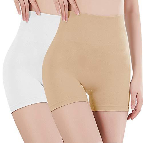 Libella Pantys Pantalones Faja de Mujer Que realzan tu Figura con Efectos Vientre Plano 3605 Beige+Blanco 2XL ⭐