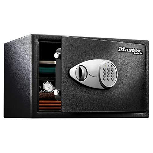 Master Lock X125ML Coffre-Fort [XL 33 litres] [Serrure Electronique] -X125ML-Idéal pour Ordinateurs Portables, Bijoux et Documents, Noir
