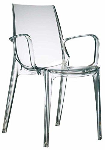 Scab Design Designer Stuhl mit Armlehnen Vanity transparent
