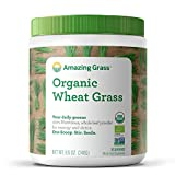 Amazing Grass Organic Wheat Grass Powder: 100% Whole-Leaf Wheat Grass Smoothie Booster, 30 Servings