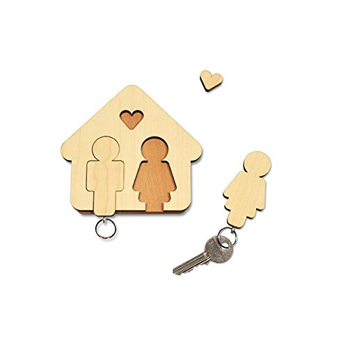 Le porte-clés en bois pour couple