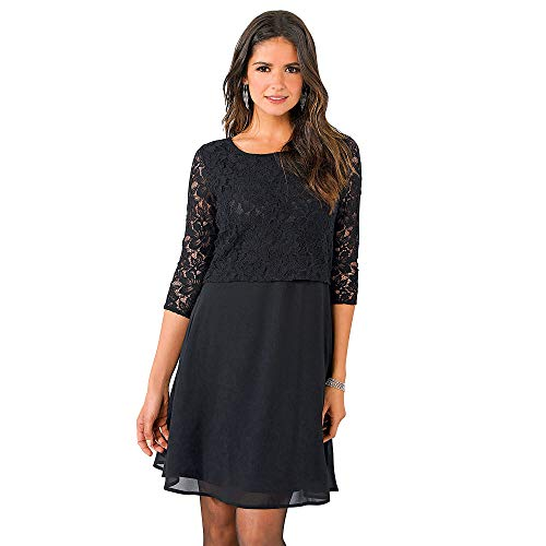 VENCA Vestido Escote Redondeado con Aplicaciones de pedrería Mujer by 018828