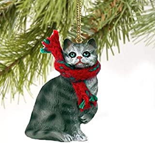 Conversation Concepts 1 X Silver Shorthaired Tabby Cat Christmas Ornament