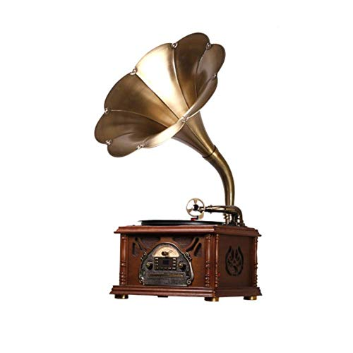 Great Features Of HWZQHJY Bluetooth Record Player, Portable Version Gramophone Vintage Retro Style S...