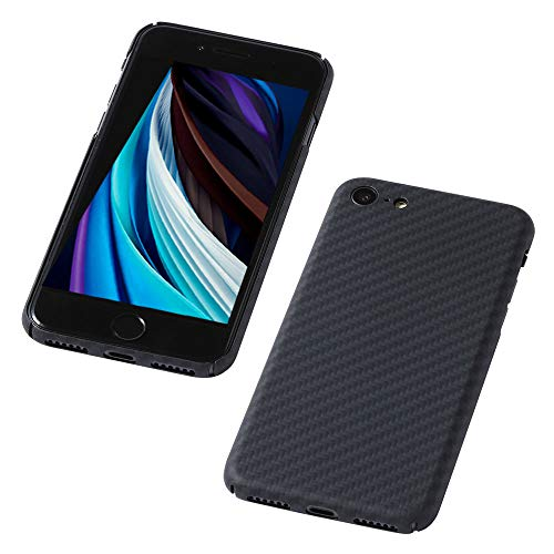 Deff(ディーフ) Ultra Slim & Light Case DURO(デューロ) for iPhone SE(第2世代) SE2 2020 極薄0.7mm 超軽量10g 防弾チョッキに使われる強化繊維 アラミド繊維で作ったケース意匠登録中