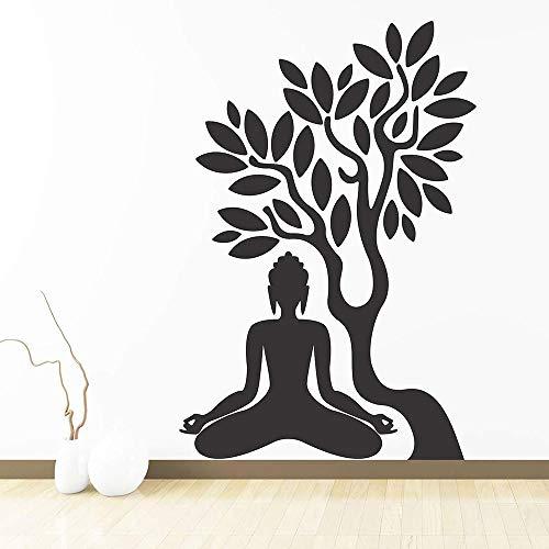 Tianpengyuanshuai babykamer met yoga muursticker decoratie boom vinyl wandtattoo decoratie slaapkamer decoratie woonkamer afneembare kunst
