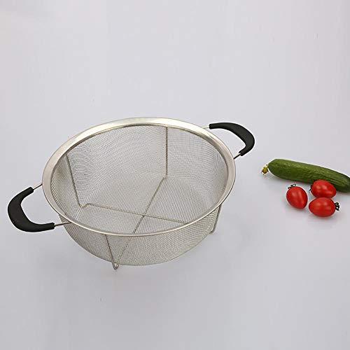 cuckoo-X Edelstahl ablassen Basket Seiher, Profi-Sieb mit Antiverbrühschutz Griffbasis, Multifunktions Küche Obst, Gemüse, Wasser-Sieb