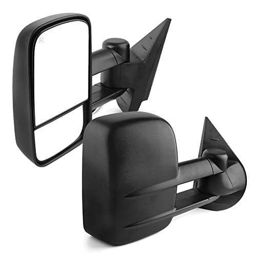 YITAMOTOR Towing Mirrors Compatible with 07-13 Chevy Silverado GMC Sierra 1500/2500/3500 Yukon Pair Set Power Heated Side Mirrors