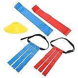 Caiqinlen Regalo RomÁntico Etiqueta de cinturón, Bandera de cinturón de fútbol de PVC, Etiqueta de Cintura de fútbol Suave y Brillante, Etiqueta de cinturón de fútbol Resistente
