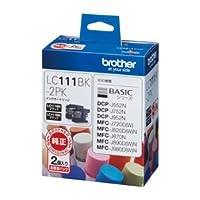 (業務用セット) ブラザー インクジェットカートリッジ LC111BK-2PK ブラック2個パック 2個入 【×2セット】