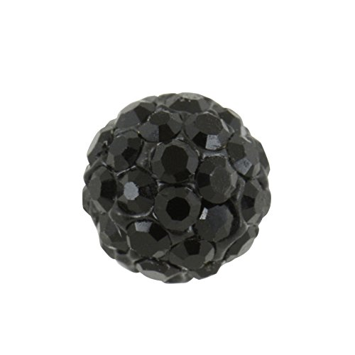 Studex sensibles grand cristal 8 mm noir/jet Boule Boucles d'oreilles Boucles d'oreille à tige en acier inoxydable
