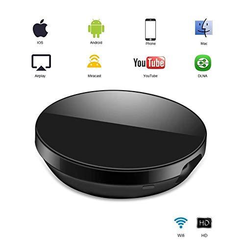 WiFi Aparato para la conexión de WiFi, osloon WiFi inalámbrico 1080 P Mini Aparato Receptor HDMI TV Miracast DLNA Airplay para iOS/Android/Mac…