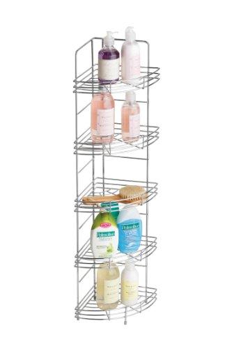 Premier Housewares Duschregal 1600559 silberfarben, Chrom, 21x21x86