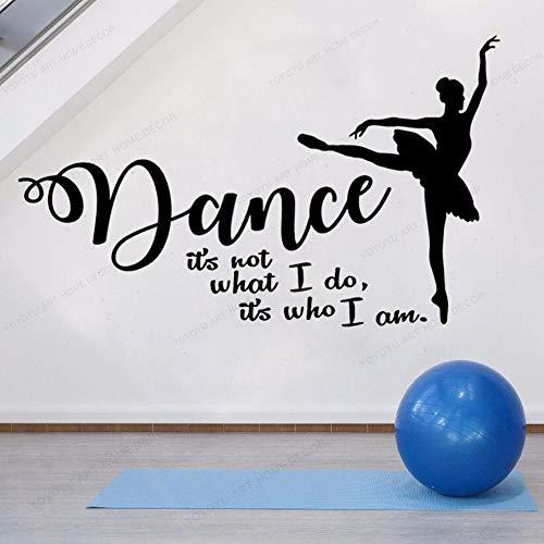 Wall Stickers for bedrooms for Boys Wall Stickers Living Room Tanzwandaufkleber Ich Bin was ich tun möchte Tanz berühmte Wandvinylaufkleber Ballerina Dekoration 42X70CM