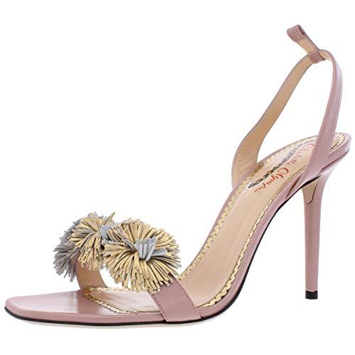 charlotte olympia Womens OLF186138A Leather Dress Sandals Pink 40.5 Medium (B,M)
