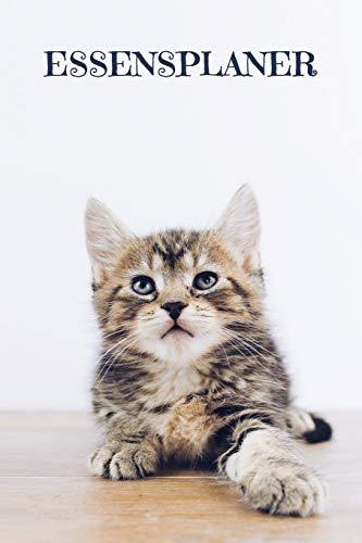 Essensplaner: Praktische wöchentliche Übersicht von deinen Mahlzeiten (Frühstück Mittag Abendessen Snack) mit Einkaufsliste | Motiv: Süße Katze