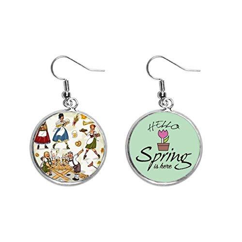 La decorazione della cultura della dogana della colazione della Germania ciondola i monili dell'orecchino della primavera
