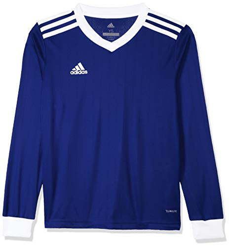 adidas Tabela 18 Jersey Ls Maillot Homme Dark Blue/White FR: S (Taille Fabricant: S)