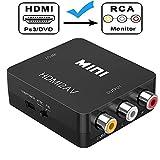 HDMI to AV コンバーター Amtake HDMI to コンポジットコンバーター hdmi 変換 コンバーター hdmi to rca 変換コンバーター PAL/NTSC切替 1080P/HDCP対応 音声転送 USB給電ケーブル付き (pcモニター hdmi 変換)