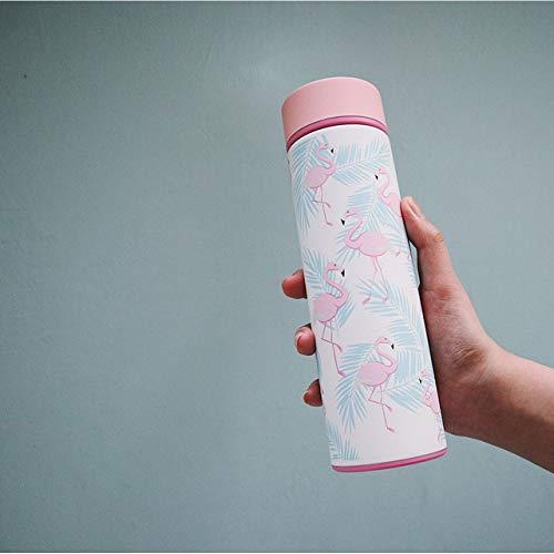 Wgath Flamingo Of Cactus Bedrukte Roestvrijstalen Thermos Geïsoleerde Thermische Waterfles Voor Thee, Koffiemok, Een Thermos Autokop | Roestvrijstalen Thermoskan