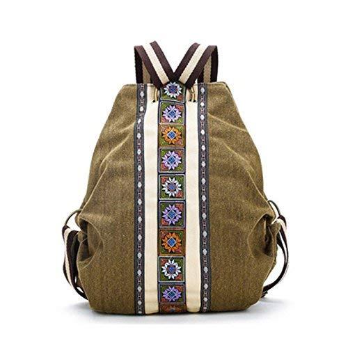 Irinay Bolso De La Mochila De Las Mujeres Étnicas Tribales Hippie Hombro Bolsa De Negocios De Los Niños Bolsa De Ordenador Portátil Mochilas Daypacks Boho Mochila (Color : Colour, Size : One Size)