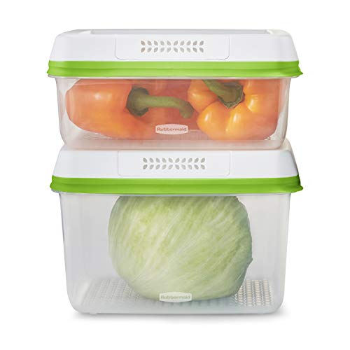 RUBBERMAID FreshWorks Saver, Large Produce Storage Containers, 4-Piece Set