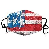 Cómoda máscara a prueba de viento, bandera de la cultura solidaridad de los Estados Unidos, inspirac...